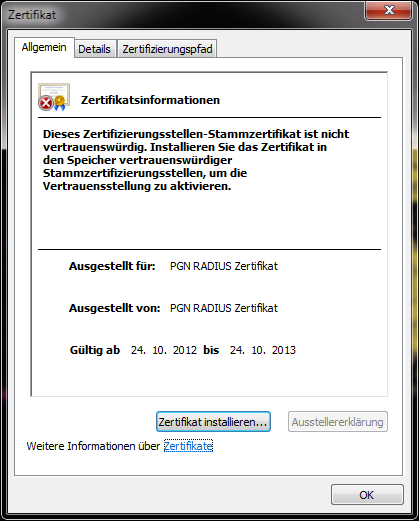 Radius-Zertifikat in Windows 7 installieren | josef.friedrich.rocks